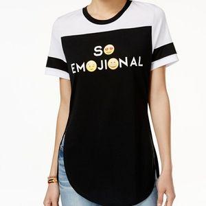 Black and white sporty Freeze Eomjional shirt